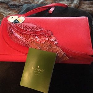 Kate spade parrot handbag new with tags